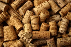 Corks, wine, carpet cleaning.
